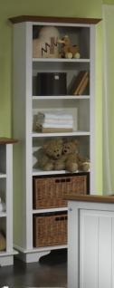 Regal Bücherregal Rattankorb Spielzeugregal Deko-Regal Kiefer massiv - Vorschau