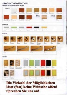 Wohnwand Regalwand Vitrine Regal Kernbuche massiv geölt Wohnsystem Regalsystem - Vorschau 3