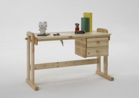 schreibtisch h henverstellbar kiefer online kaufen yatego. Black Bedroom Furniture Sets. Home Design Ideas