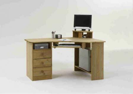 Computertisch schreibtisch kiefer kaufen bei yatego for Schreibtisch in kiefer