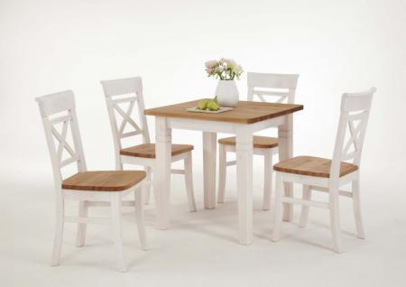 Tischgruppe Essgruppe 5-teilig Esstisch Küchenstuhl Kiefer massiv versch. Farben