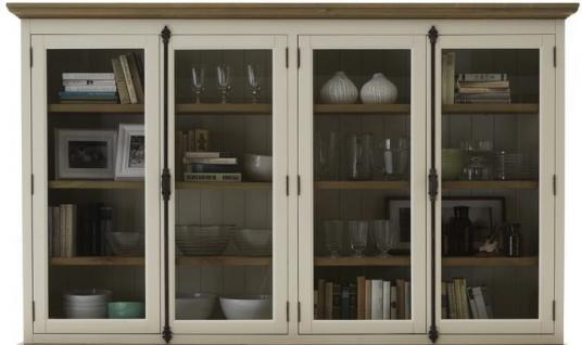 buffetaufsatz vitrine pinie wildeiche massiv ge lt antikwei amerikanischer stil kaufen bei. Black Bedroom Furniture Sets. Home Design Ideas