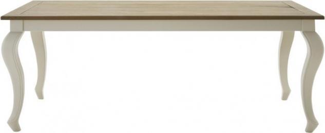 Esstisch Esszimmertisch Tisch 180 Pinie Wildeiche massiv geölt antikweiß barock