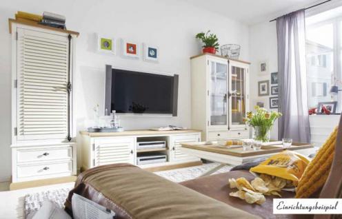 Wohnwand Wohnzimmer Set Pinie Wildeiche massiv antikweiß shabby amerikanisch - Vorschau 1