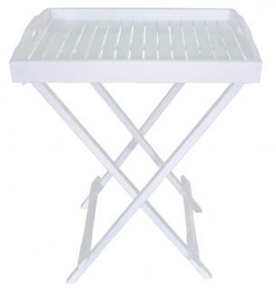 Tablettständer Tablett Tisch Abstelltisch Eukalyptus massiv white wash - Vorschau