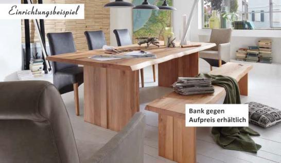 Esstisch Tisch Esszimmer massiv 160x90 cm Wildeiche Kernbuche Nussbaum Wuchsrisse - Vorschau 3