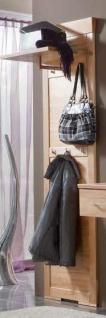 Garderobe Wandgarderobe Wandpaneel Paneel Kernbuche massiv geölt Flur Diele