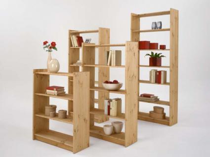 Bücherregal Regal Holzregal 80 cm breit Kiefer massiv - Vorschau 2