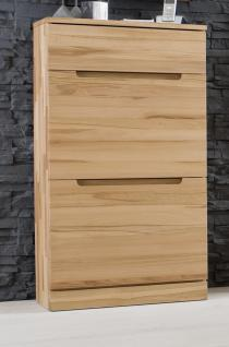 schuhschrank schuhkommode klappen kernbuche massiv ge lt made in germany kaufen bei saku. Black Bedroom Furniture Sets. Home Design Ideas