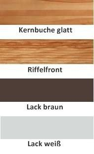 Schuhschrank Schuhkommode Kernbuche massiv geölt made in Germany Riffelfront - Vorschau 4