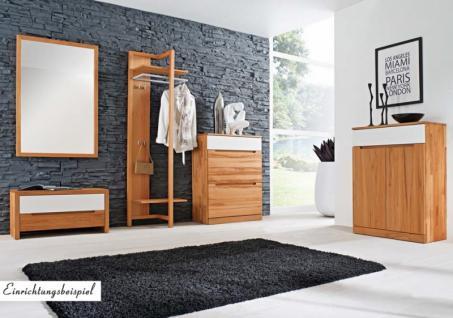 bank sitzbank mit klappe flur diele kernbuche massiv ge lt. Black Bedroom Furniture Sets. Home Design Ideas
