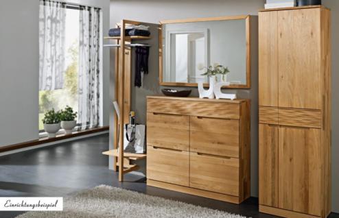 garderobe wandgarderobe wildeiche massiv ge lt made in germany kaufen bei saku system. Black Bedroom Furniture Sets. Home Design Ideas