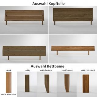 Bett Doppelbett Kernbuche massiv geölt Bettsystem Massivholz Variantenvielfalt - Vorschau 3