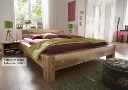 Bett Doppelbett massiv Eiche Balkeneiche geölt verschiedene Ausführungen möglich - Vorschau 1