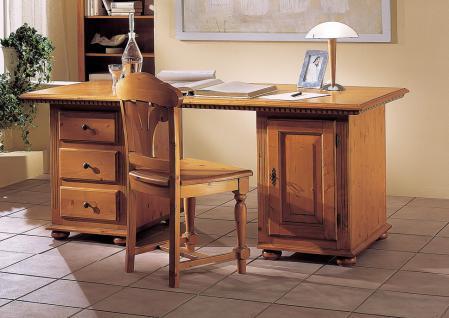 Schreibtisch Arbeitszimmer Büro Fichte massiv mediterran romantik Landhausstil
