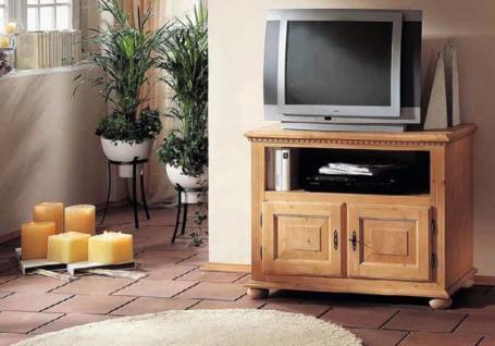 Fernsehkommode TV-Kommode Phono Fichte massiv mediterran romantik Landhausstil - Vorschau 2