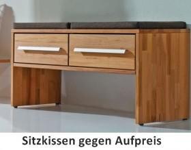 Bank Schubladenbank Schuhbank Kernbuche massiv geölt schlicht Flur Diele - Vorschau 2