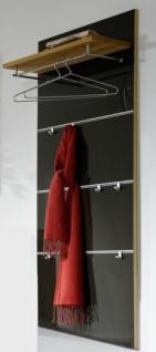 Garderobe Wandgarderobe Wandpaneel verschiebbare Haken Kernbuche massiv geölt