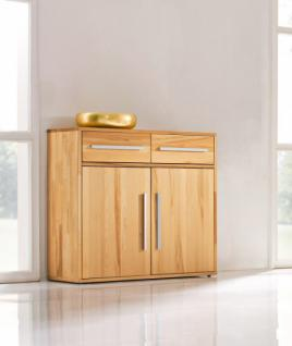 kommode anrichte kernbuche massiv ge lt schlicht flur. Black Bedroom Furniture Sets. Home Design Ideas