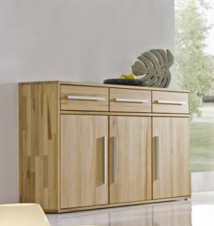 sideboard anrichte kernbuche massiv ge lt schlicht flur diele 3 schubladen kaufen bei saku. Black Bedroom Furniture Sets. Home Design Ideas