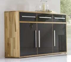 sideboard anrichte kernbuche massiv ge lt flur diele hochglanz lackfront dunkel kaufen bei. Black Bedroom Furniture Sets. Home Design Ideas