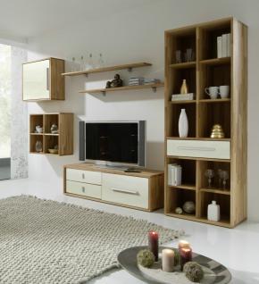 Wohnwand kernbuche weiss g nstig kaufen bei yatego for Wohnzimmer kompletteinrichtung