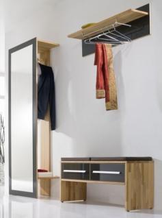 Garderobenset Garderobenkombi Spiegel Garderobe Kernbuche Hochglanz Lackfront