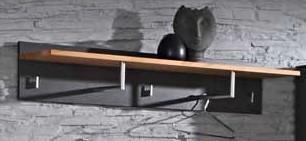 Wandpaneel Wandgarderobe Garderobe Flur Diele Kernbuche massiv graphit grau