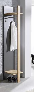 Wandgarderobe Garderobe Flur Diele Kernbuche massiv graphit grau