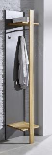 Wandgarderobe Garderobe Flur Diele Wildeiche massiv graphit grau