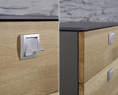 Garderobe Set Garderobenset Schrank Schuhschrank Kernbuche teilmassiv graphit grau - Vorschau 2