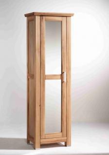 dielenschrank schrank garderobenschrank mit spiegel kernbuche massiv ge lt kaufen bei saku. Black Bedroom Furniture Sets. Home Design Ideas