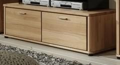 TV-Board Lowboard TV-Anrichte Rotkernbuche massiv bio livos geölt 2 Schubladen - Vorschau