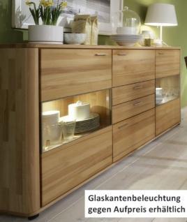 Sideboard Highboard Vitrine Rotkernbuche massiv bio livos geölt Softclose