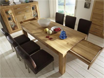 Esstisch Esszimmertisch Tisch versch. Größen Kernbuche oder Wildeiche massiv - Vorschau 3