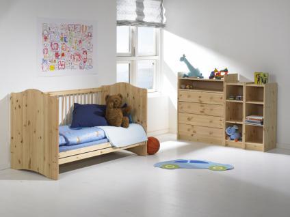 Kommode Schubladenkommode Kiefer massiv white wash natur lackiert Kinderzimmer - Vorschau 3