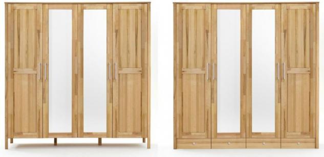 kleiderschrank kernbuche massiv g nstig bei yatego. Black Bedroom Furniture Sets. Home Design Ideas