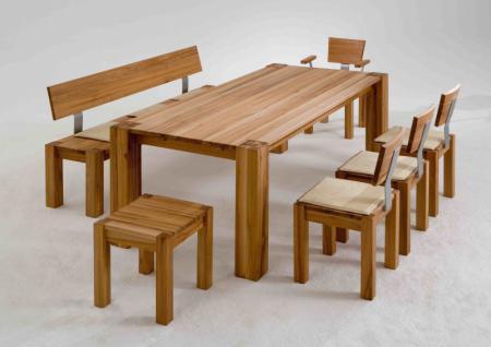 Tischgruppe Esstisch Stühle Kernbuche massiv
