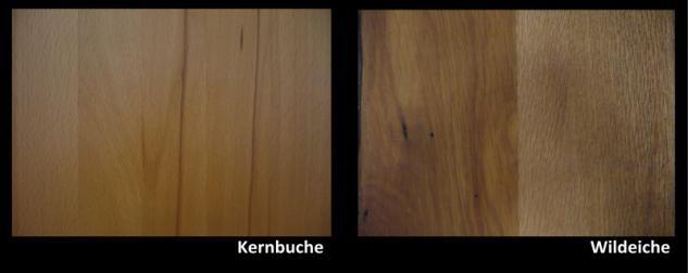 Highboard Schrank 4-trg Vitrine Kernbuche oder Wildeiche massiv Livos geölt - Vorschau 2