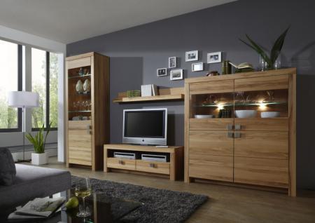 Wohnwand Wohnzimmer Set Wohnzimmerwand Kernbuche oder Wildeiche massiv geölt