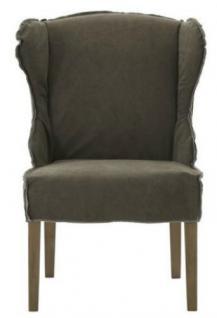 Stühle 2er Set Sessel Stuhlsessel Polster stonewashed reinigungsfähig braun