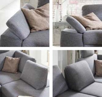 Polstercouch Sofa Couch Ecksofa Polsterecke Funktion grau groß modern - Vorschau 2