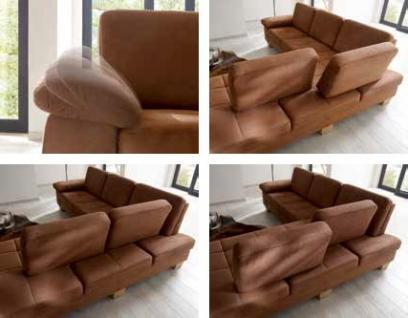 Eckgruppe Polsterecke Sofa Couch Textilsofa Ecksofa Eckcouch hasel braun - Vorschau 2