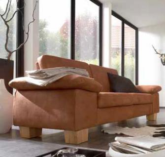 Sofa Couch 2,5 Sitzer Large Textilsofa Wohnzimmer Stoffbezug hasel braun - Vorschau