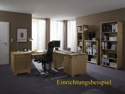Schreibtisch Schubladen Bürotisch Notebook - Tisch Büromöbel Kiefer massiv - Vorschau 3