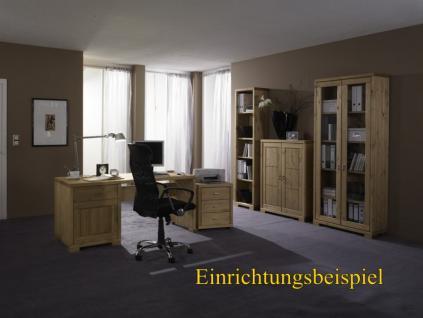 Schreibtisch Schubladen Bürotisch Notebook - Tisch Büromöbel Kiefer massiv - Vorschau 2