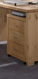 Rollcontainer Büromöbel Schreibtisch Arbeitszimmer Kiefer massiv geölt lackiert - Vorschau 2