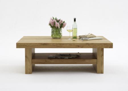 Couchtisch Beistelltisch Tisch tief Asteiche massiv glatt geölt solitär - Vorschau 1
