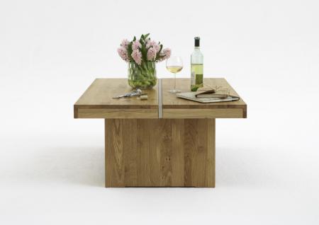 Couchtisch Beistelltisch Tisch tief Asteiche massiv glatt geölt solitär - Vorschau 2