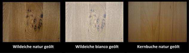 Wohnwand TV Wohnzimmerwand Fernsehwand Wildeiche geölt massiv natur rustikal - Vorschau 2